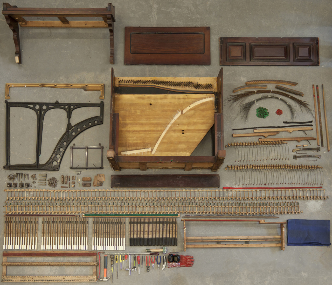 Disassembled Upright Piano